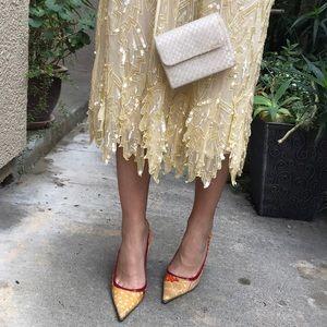 Vintage Dolce & Gabbana canvas/leather heels